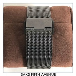 Saks Fifth Avenue Accessories - Red Saks Fifth Avenue Chronograph Mesh Wristwatch